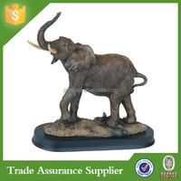 elephant collectible wildlife animal sculpture model resin elephant figurine for sale