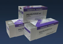 Disposable synthetic braided absorbable polyglycolic acid surgical suture