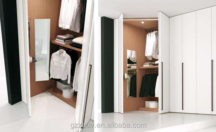 White pvc cheap wardrobe mdf closet with louvered sliding for Cheap sliding closet doors