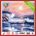 2014 la venta caliente mar pintura al óleo de onda sobre lienzos