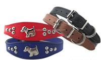 Cute small and medium cheap pet collar with alloy dog charm,custom dog collar