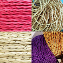 fabric covered textile cord cable braided wire electrical wire cable house wiring