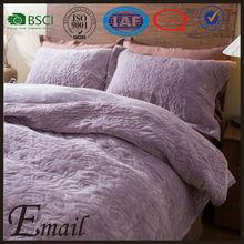 SUPER SOFT quilt fleece blanket bed cover sheet velvet embroidered bedding set