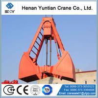 Electric hydraulic scrap metal grab bucket for crane