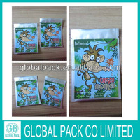 2014 HOT SALE! WHOLESALE Crazy Monkey Herbal Incense Packaging/Crazy Monkey 5g Herbal Incense Spice Bags with zipper
