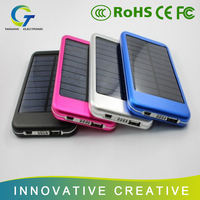5000 mAh Solar Panel Charger Portable Waterproof Power Bank for Phones