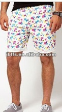 OEM fashion floral shorts with all over print 2012