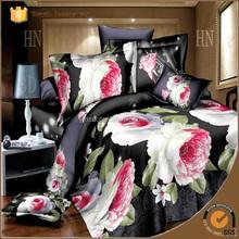 Luxury POLYESTER comforter sets wedding bedding set 3d bed linen set