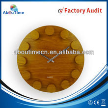 country home decor wholesale /big size decorative wall clocks /real wooden Clock for 6168 sweep movement
