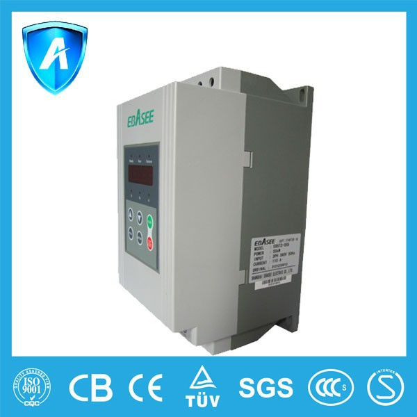 90kw 660v ac 3 phase soft starters for electric motor for Single phase motor soft starter