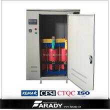 100kVA three phase dry type 480V to 220V electrical power transformer