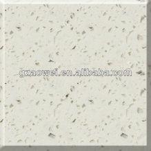 2 cm blanco puro de piedra de cuarzo