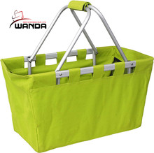 Keep food 600D oxford wholesale folding portable shopping basket