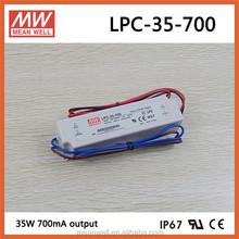 Meanwell 48v 700ma waterproof IP67 led driver LPC-35-700