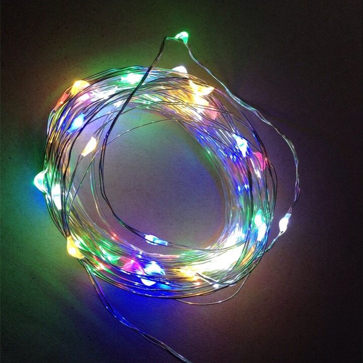 3aa Battery Operated Christmas Micro Mini Led Copper Wire String Lights - Buy Led Copper Wire ...