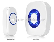 Forrinx muti-function Auto-learning Code AC/DC Door Chime 300M Long Distance 52 Melodies Led Light Wireless Doorbell