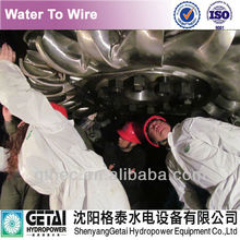 Furnished & assembled pelton nozzle for mini hydro turbine for sale turbine generator made in china from shenyang getai