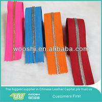 long chain zipper metal zipper light gold teeth for leather bag