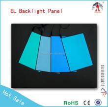 Hot Selling best high brightness long life sound active el backlit sheet / el backlight panel