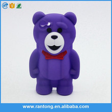 cute kids case for samsung galaxy grand 2 bear silicone mobile phone case