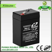 ABS cover lead acid ups sealed 6v4.5ah 20hr rechargeable battery