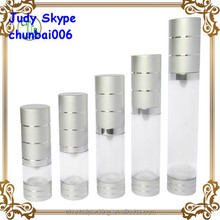 airless bottle with cut line cap for cosmetic lotion,cosmetic airless bottles