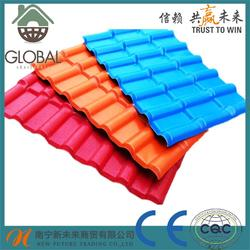 Brand new synthetic resin roofing tile/asa spanish roof tile/asa+ pvc plastic roofing sheet made in China