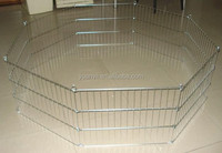 Metal folding wire rabbit enclosure pet fence exercise yard