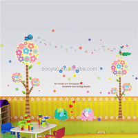 ZOOYOO animals flowers stickers decoration of houses interior handmade flower painting for girls (PB213)