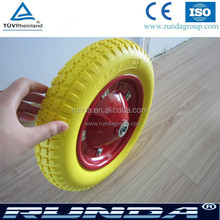 solid wheelbarrow 3.00-8 pu wheel