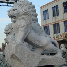 Life Size Hand Made Marble Natural Stone Lion Statues
