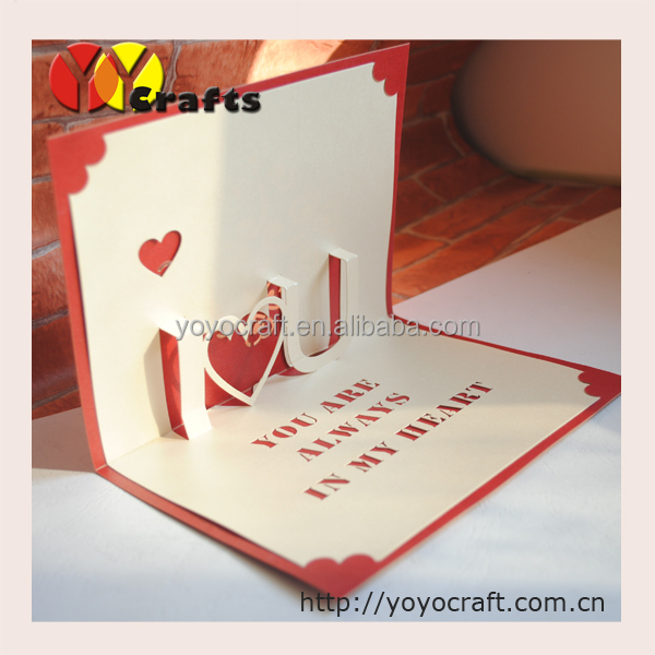 I love you laser cut eco friendly paper 3d pop up greeting cards for 105 02 105 01 105 m4hsunfo