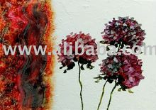Painting Flower, acrylic painting, on canvas, handmade , 70x100cm (28x40inc), exclusive brazilian art, Available in various