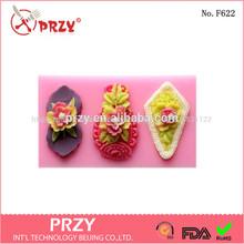 baratos de silicona decorativos pop pastel del molde