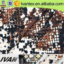 New Design Polyester Knit Printed Angora Jersey Fabric with Brush