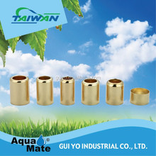 Brass hose ferrule for low pressure rubber hose, copper ferrule