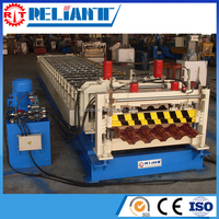 CE Auto Roll Forming Machine For Roofing Tile AC Motor Driving