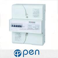electric din rail digital power meter din rail price good electrical dc power energy three phase digital energy meter