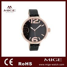 Latest hot sale genuine leather waterproof 3atm quartz watch for ladies