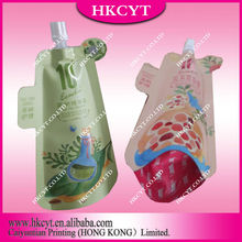 Laminated Free Shaped Leakproof Stand Up Pouch For Cosmetic