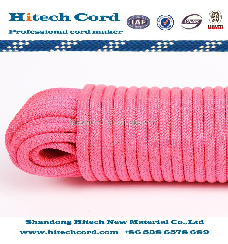 Pink color 32 strand braided rope Polypropylene material