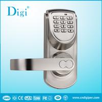 Front handle digital keypad door lock