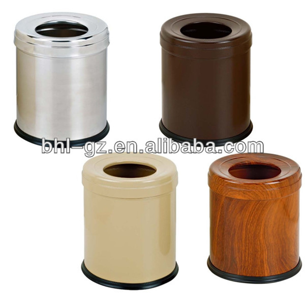 Hot Sale Painting Indoor Steel Trash Can Hotel Guest Room Living Room Dustb
