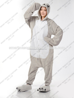 New design adult and kid seal onesie pajamas flannel Thermal adult seal pajamas