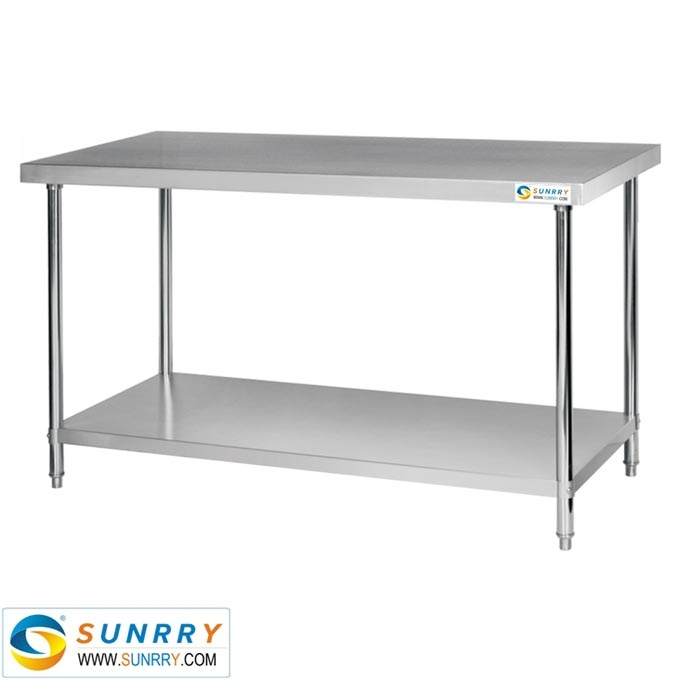 work table with under shelf stainless steel dining table top stainless