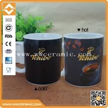 super white porcelain 11oz magic coffee mug