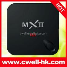 MX III 4K UHD Amlogic S802 Quad Core Google Android 4.4 TV Box
