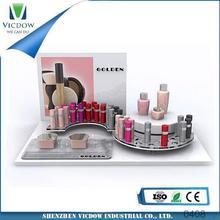 acrylic cosmetic display acrylic makeup organizer supermarket equipment/cosmetic bottle holder/acrylic white display