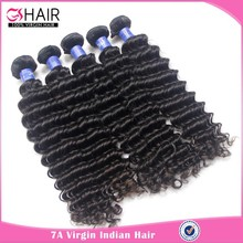 GS 7A wholesale deep wave deep curl 100 percent indian remy human hair