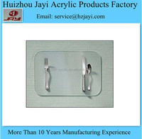 JYPM-009China supplier wholesale acrylic clear table pad/glass table pad